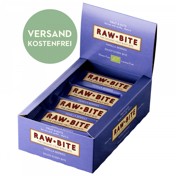 Raw Bite Vanilla Berries Box